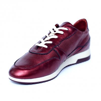 Pantofi dama din piele naturala, Naty, Peter, Grena, 38 EU [3]