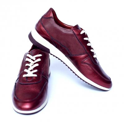 Pantofi dama din piele naturala, Naty, Peter, Grena, 38 EU [2]