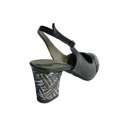 Pantofi dama din piele naturala, Dana, Nist, Negru, 36 EU1