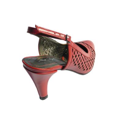Pantofi dama din piele naturala, Alisse, Nist, Rosu, 34.5 EU1