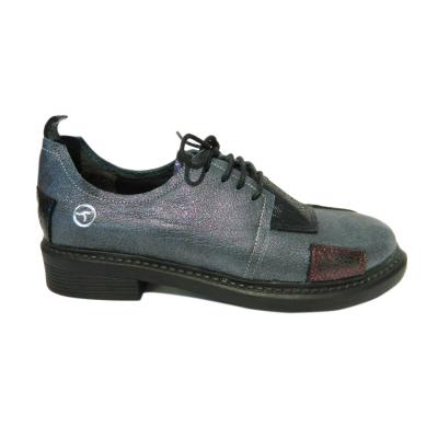 Pantofi dama din piele naturala, Oxford, Gitanos, Gri, 36 EU [2]