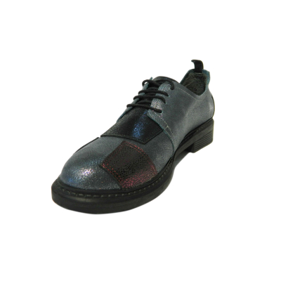 Pantofi dama din piele naturala, Oxford, Gitanos, Gri, 36 EU0