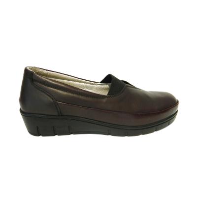 Pantofi dama cu talpa ortopedica Ipek, piele naturala, Gitanos, Bordeaux, 36 EU2