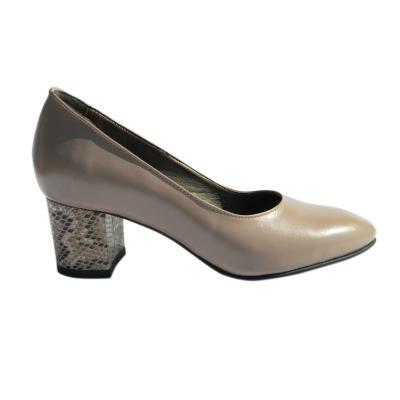 Pantofi dama din piele naturala, Kaily, Nist, Crem, 36 EU [2]