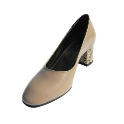 Pantofi dama din piele naturala, Kaily, Nist, Crem, 36 EU [0]
