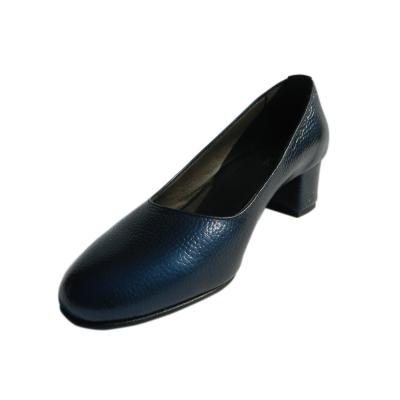 Pantofi dama din piele naturala, Caroll, Nist, Albastru, 35 EU [0]