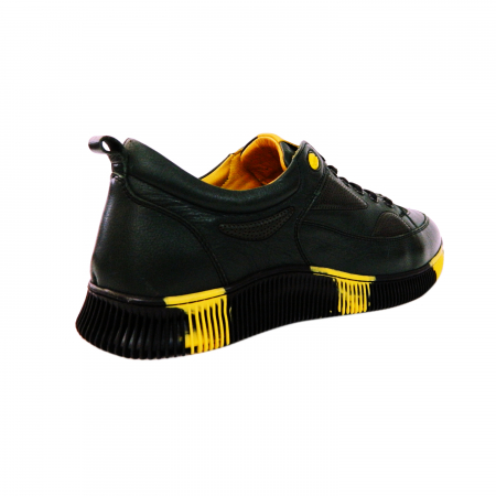 Pantofi sport pentru barbati Erny, piele naturala, Gitanos, Negru, 40 EU [2]