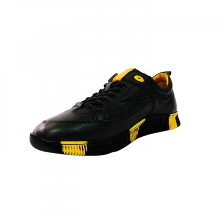 Pantofi sport pentru barbati Erny, piele naturala, Gitanos, Negru, 40 EU1