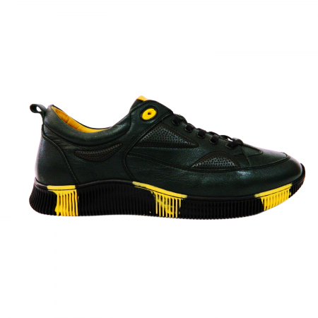 Pantofi sport pentru barbati Erny, piele naturala, Gitanos, Negru, 40 EU [0]