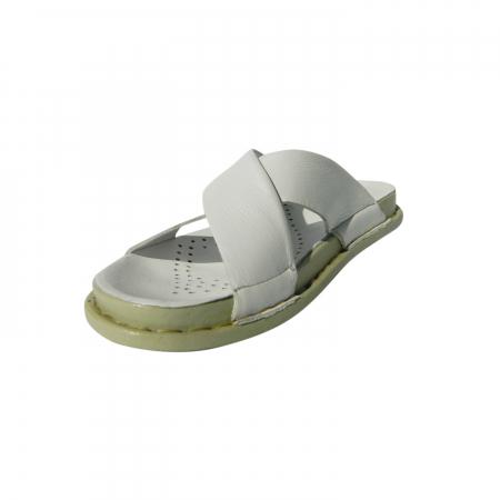 Papuci dama din piele naturala, Slipper, Anna Viotti, Alb, 39 EU2
