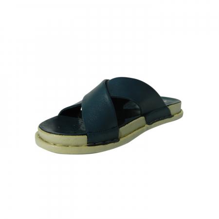 Papuci dama din piele naturala, Slipper, Anna Viotti, Albastru, 38 EU2
