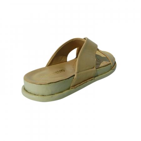Papuci dama din piele naturala, Slipper, Anna Viotti, Bej, 40 EU [1]