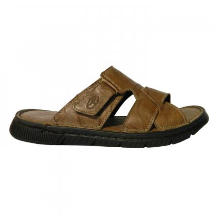 Papuci pentru barbati din piele naturala, Cuba, Gitanos, Maro, 40 EU0