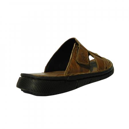 Papuci pentru barbati din piele naturala, Cuba, Gitanos, Maro, 40 EU1
