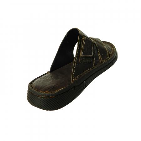 Papuci pentru barbati din piele naturala, Cuba, Gitanos, Maro inchis, 40 EU1