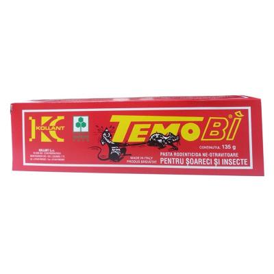 Pasta rodenticida netoxica pentru soareci si insecte Temo BI Kolant 135g1