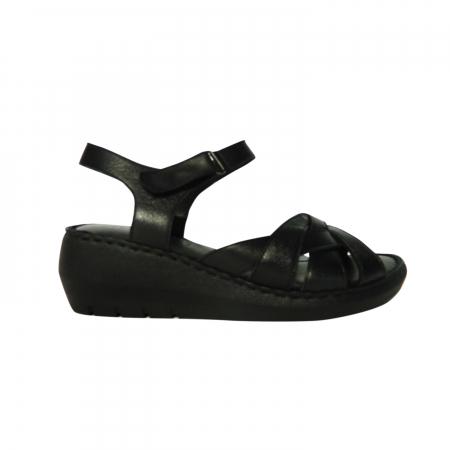 Sandale dama din piele naturala, Amza, Gitanos, Negru, 39 EU0
