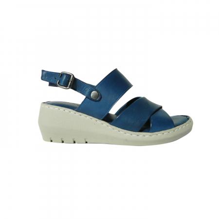 Sandale dama din piele naturala, Cloud, Gitanos, Albastru, 40 EU0
