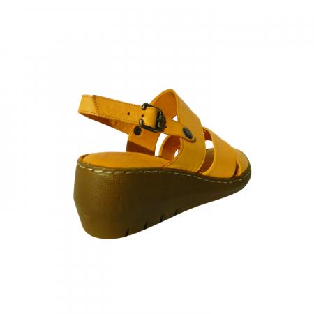 Sandale dama din piele naturala, Cloud, Gitanos, Galben, 39 EU [1]