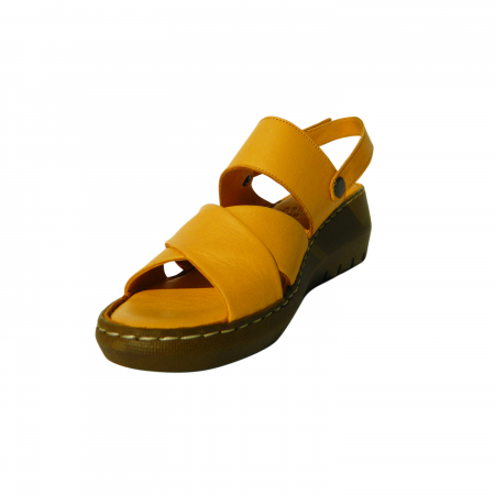Sandale dama din piele naturala, Cloud, Gitanos, Galben, 39 EU [2]