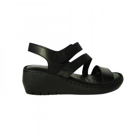 Sandale dama din piele naturala, Dora, Gitanos, Negru, 38 EU0