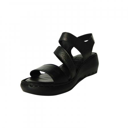Sandale dama din piele naturala, Dora, Gitanos, Negru, 38 EU2