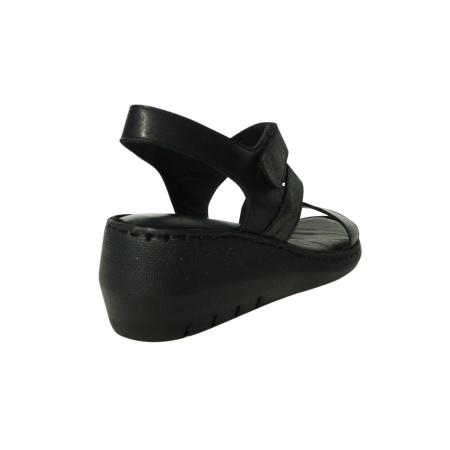 Sandale dama din piele naturala, Dora, Gitanos, Negru, 38 EU1