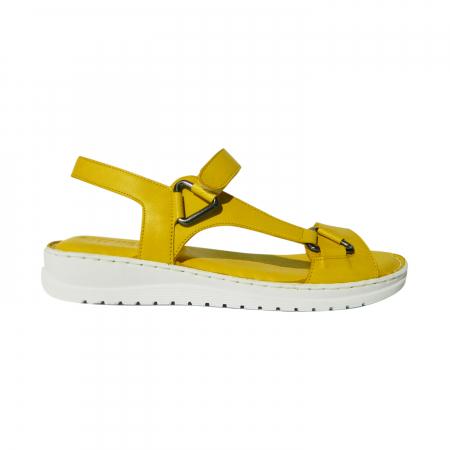 Sandale dama din piele naturala, Lille, Gitanos, Galben, 40 EU [0]