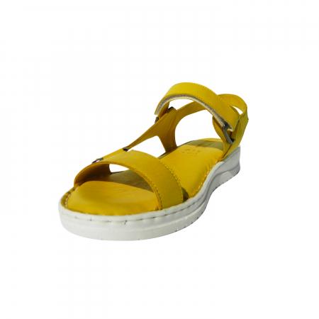 Sandale dama din piele naturala, Lille, Gitanos, Galben, 40 EU [2]