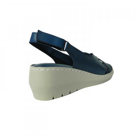 Sandale dama din piele naturala, Mary, Gitanos, Albastru, 36 EU1