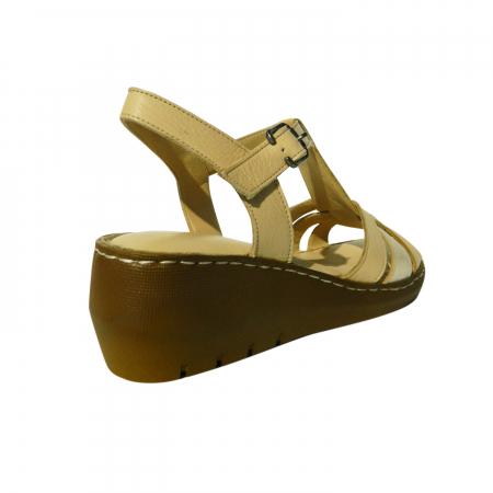 Sandale dama din piele naturala, Pam, Gitanos, Bej, 37 EU [1]