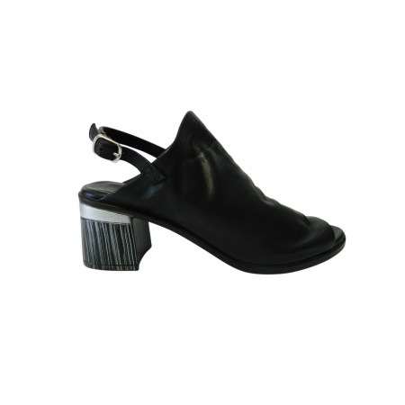 Sandale dama din piele naturala, Patricia, Gitanos, Negru, 36 EU0