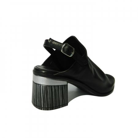 Sandale dama din piele naturala, Patricia, Gitanos, Negru, 36 EU2