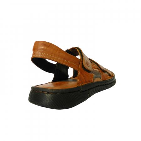 Sandale pentru barbati din piele naturala, Falcon, Gitanos, Maro, 43 EU1