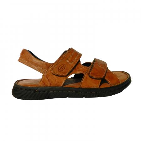 Sandale pentru barbati din piele naturala, Falcon, Gitanos, Maro, 43 EU0