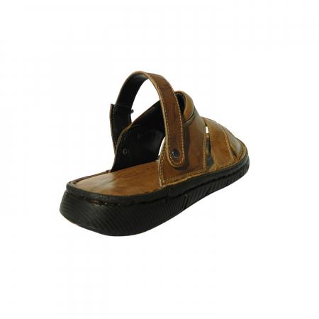 Sandale pentru barbati din piele naturala, Jules, Gitanos, Maro, 42 EU1