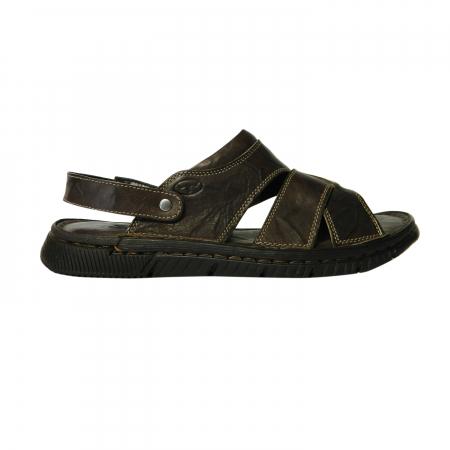 Sandale pentru barbati din piele naturala, Jules, Gitanos, Maro inchis, 43 EU0