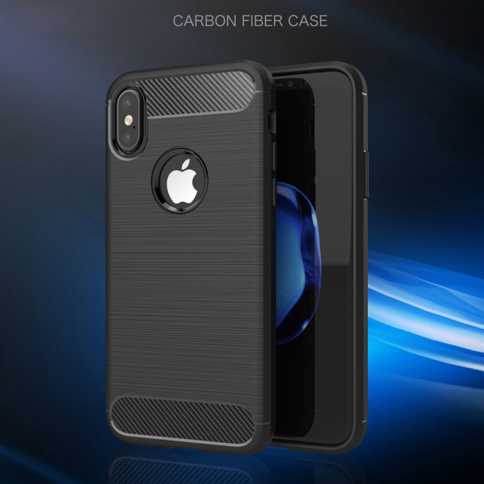 Husa silicon carbmat Iphone Xs Max 3