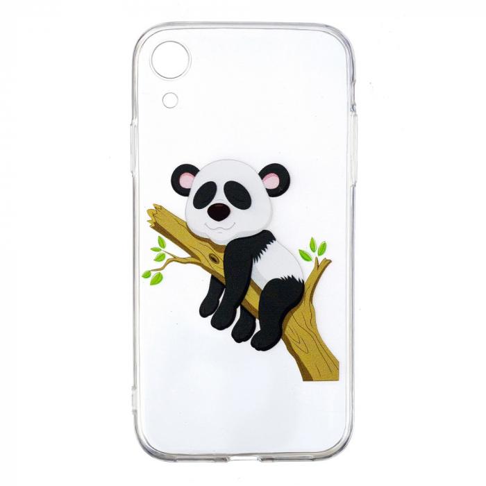 Husa silicon design panda Iphone XR 0