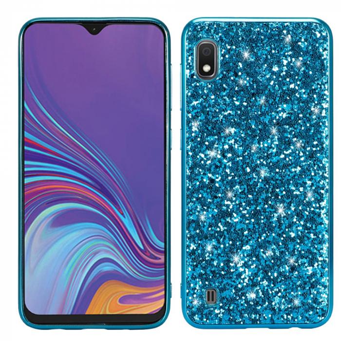 Husa silicon cu sclipici Samsung A10, Albastru 0