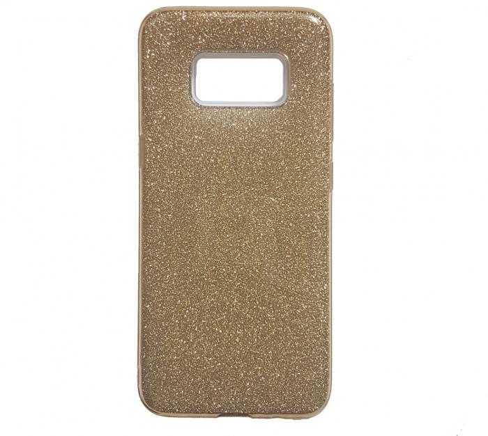Husa silicon 3 in 1 cu sclipici Samsung S8 plus - Gold 0