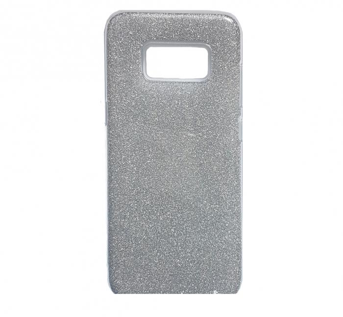 Husa silicon 3 in 1 cu sclipici Samsung S8 plus - Silver 0