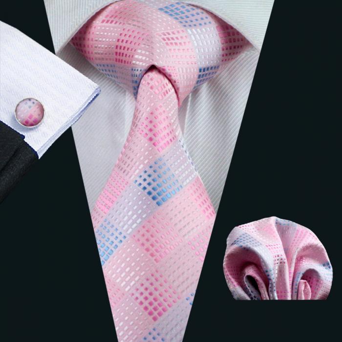 Set cravata + batista + butoni matase naturala model rose 350 [0]