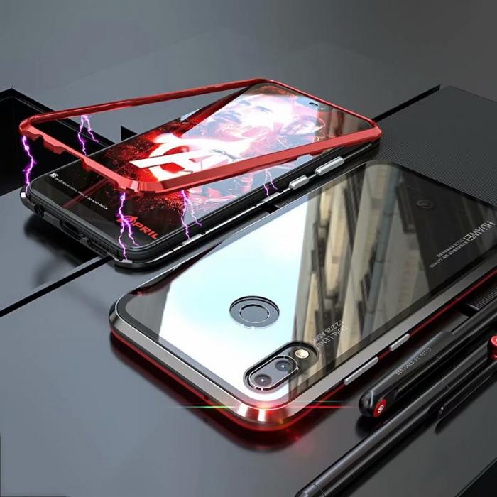Bumper magnetic Huawei P20 Lite, Rosu 0