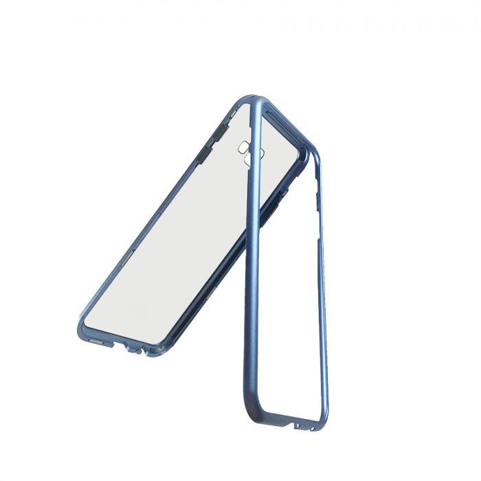 Bumper magnetic Samsung J4 plus - Albastru 0