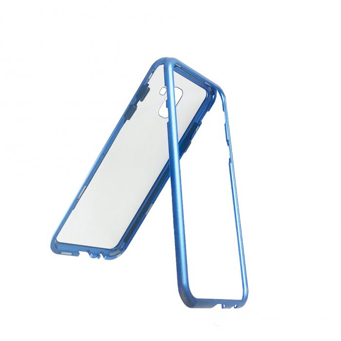 Bumper magnetic Samsung J6 plus - Albastru 1