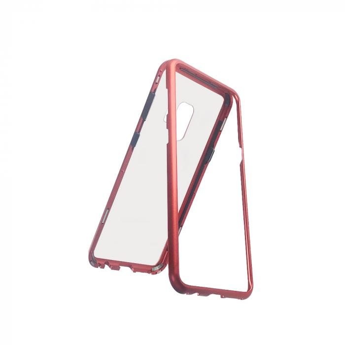 Bumper magnetic Samsung S9 plus, Rosu 0