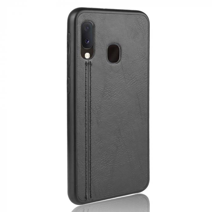 Husa silicon model piele Samsung A20e - Negru 1
