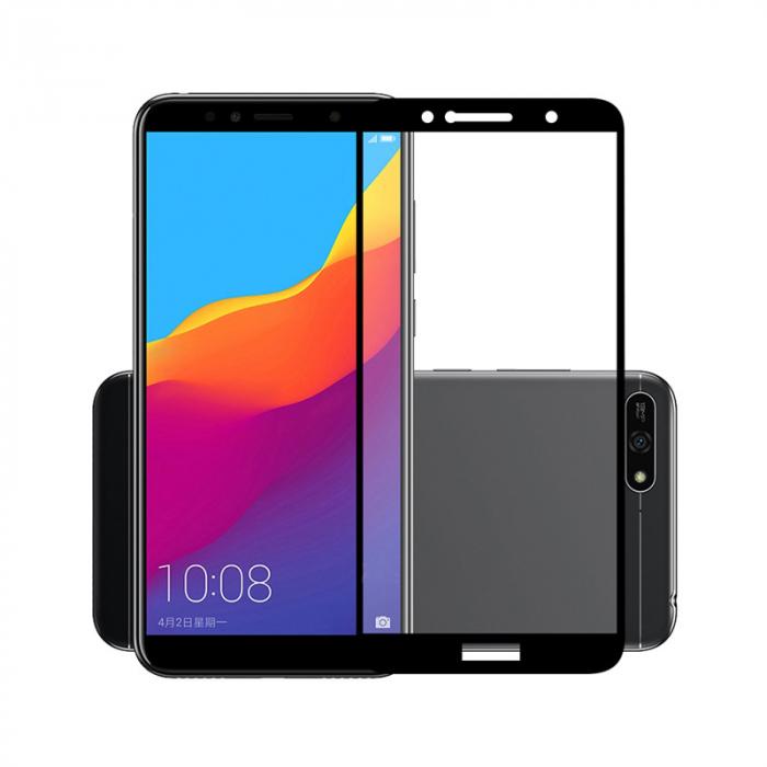 Folie sticla 9D Huawei Y7 (2018) - negru 0