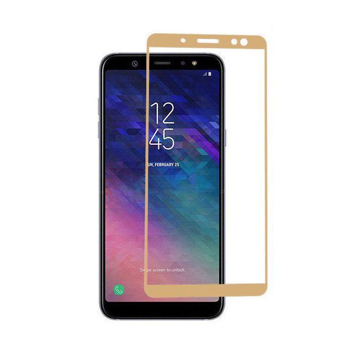 Folie sticla 9D Samsung A6 (2018) - Gold [0]